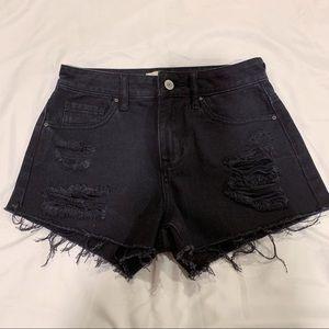 Pacsun Black Denim Shorts